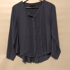 Dark lilac blouse with fringe